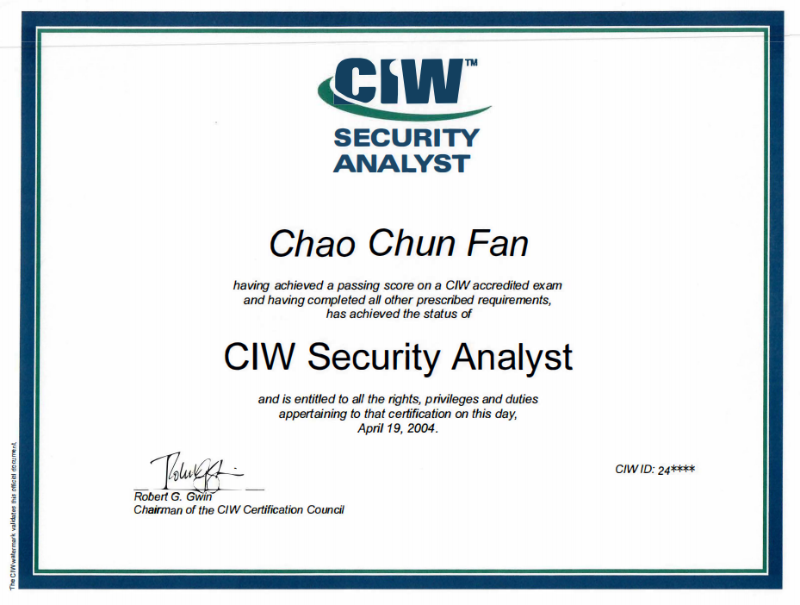 CIW Security Analyst